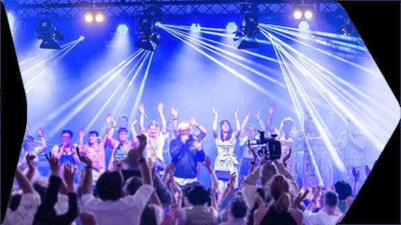 Konzerte und Partys. 40 Jahre Boehnlein. Live-Event, Veranstaltungstechnik, Lichttechnik, Tontechnik, HD-Event GmbH, Bamberg